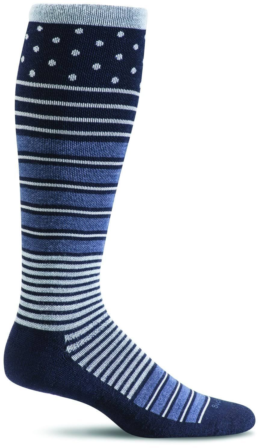 Sockwell Women's Twister Graduated Compression Socks - Navy, Medium