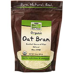 Now Foods Natural Oat Bran - 14oz