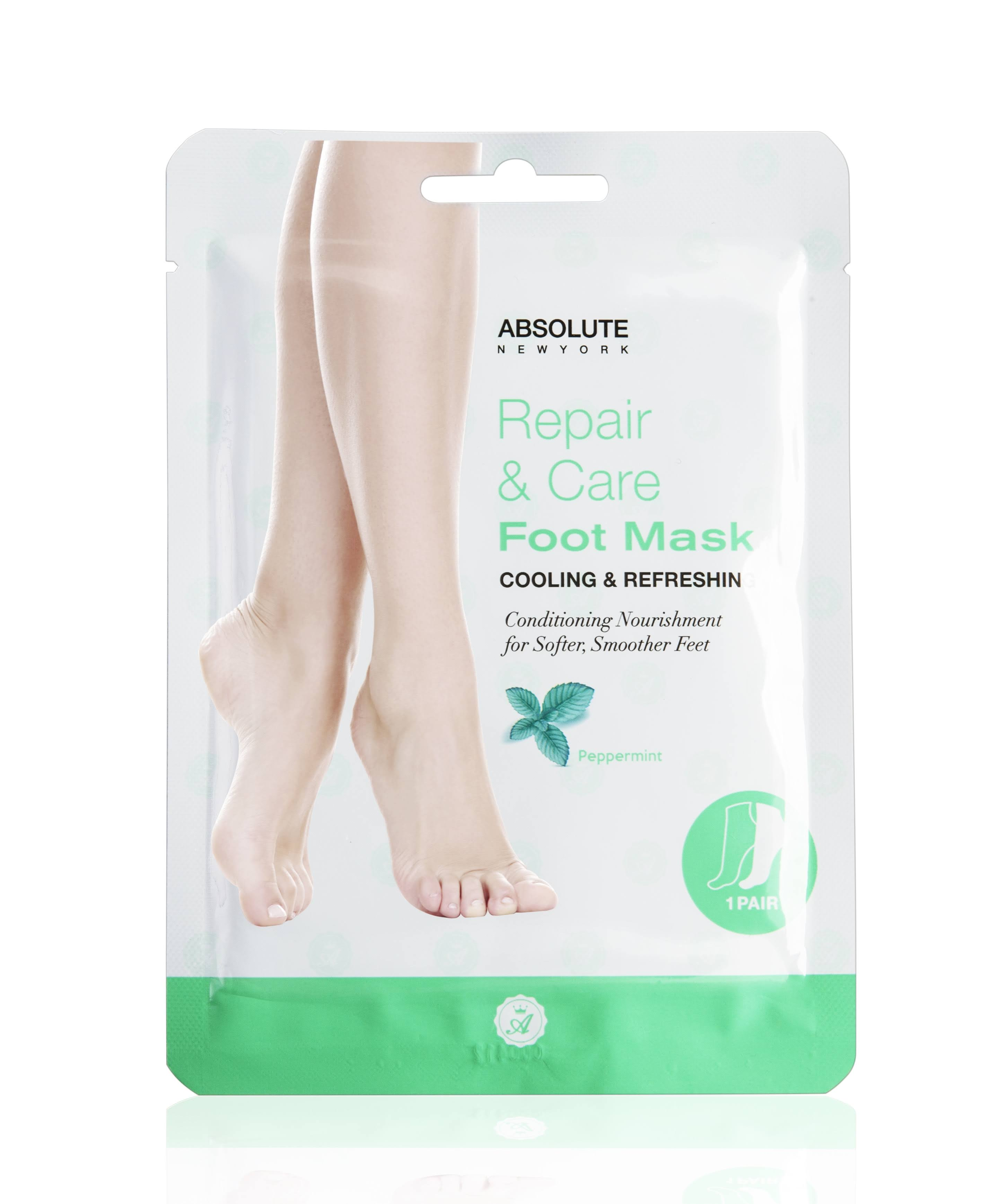 Absolute Repair & Care Foot Mask - Peppermint