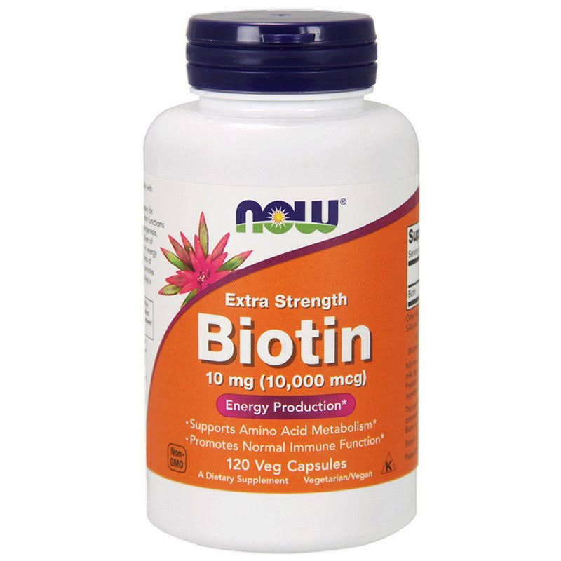 Now Foods Biotin - 60 Veg Capsules