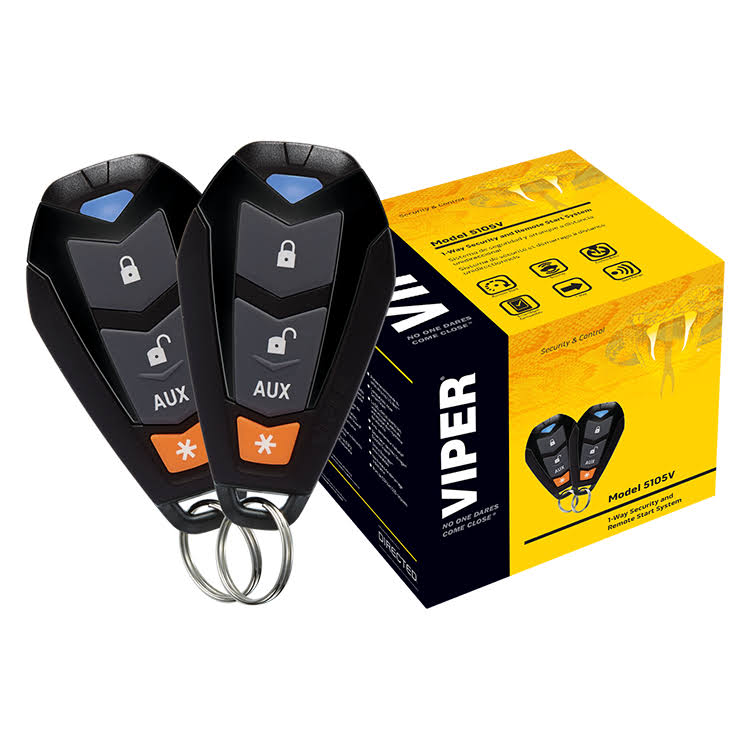 Viper 1-Way Security And Remote Start System - Black