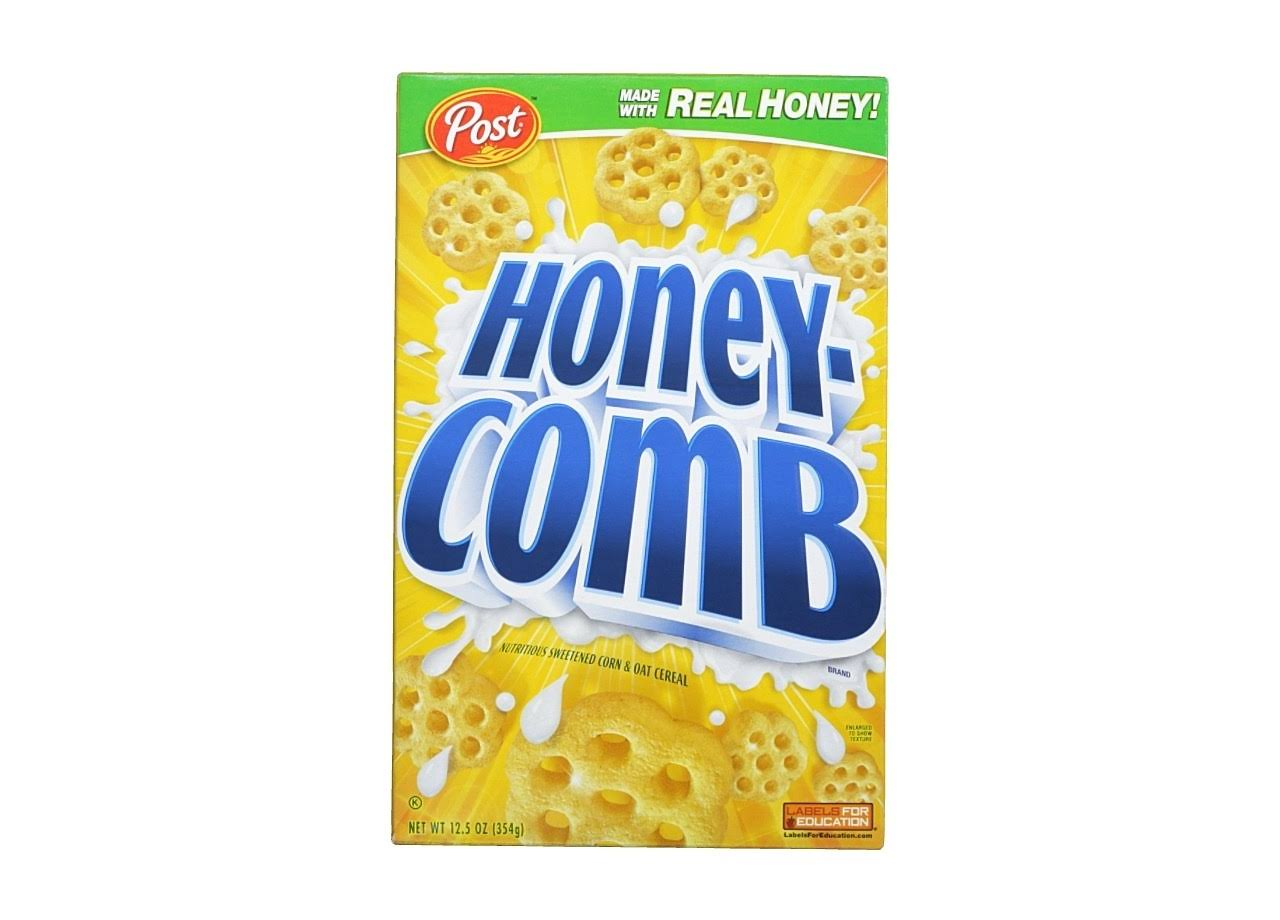 Post Honey-Comb Nutritious Sweetened Corn and Oat Cereal - 12.5oz