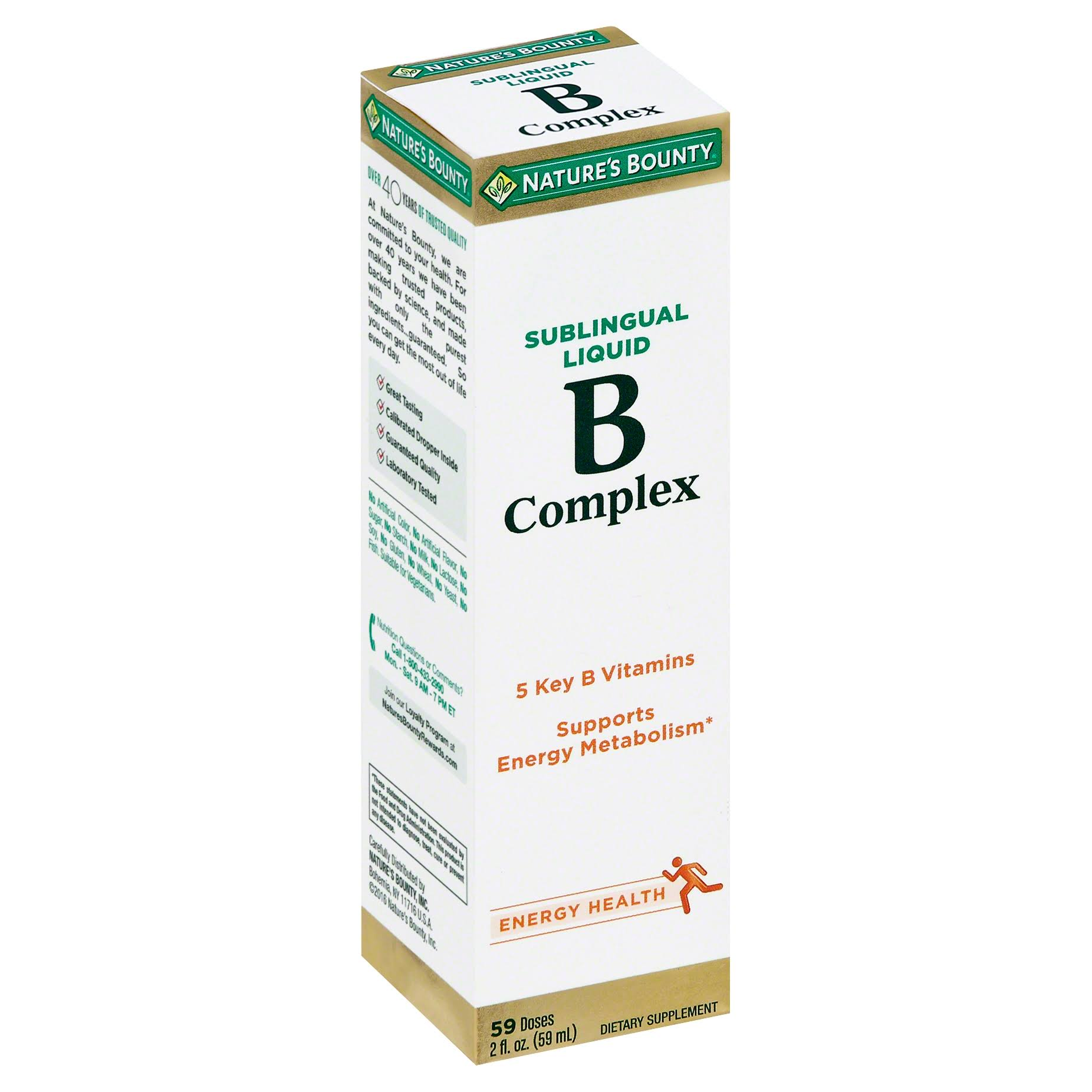 Nature's Bounty B Complex with B12 Sublingual Liquid Dietary Supplement - 2oz