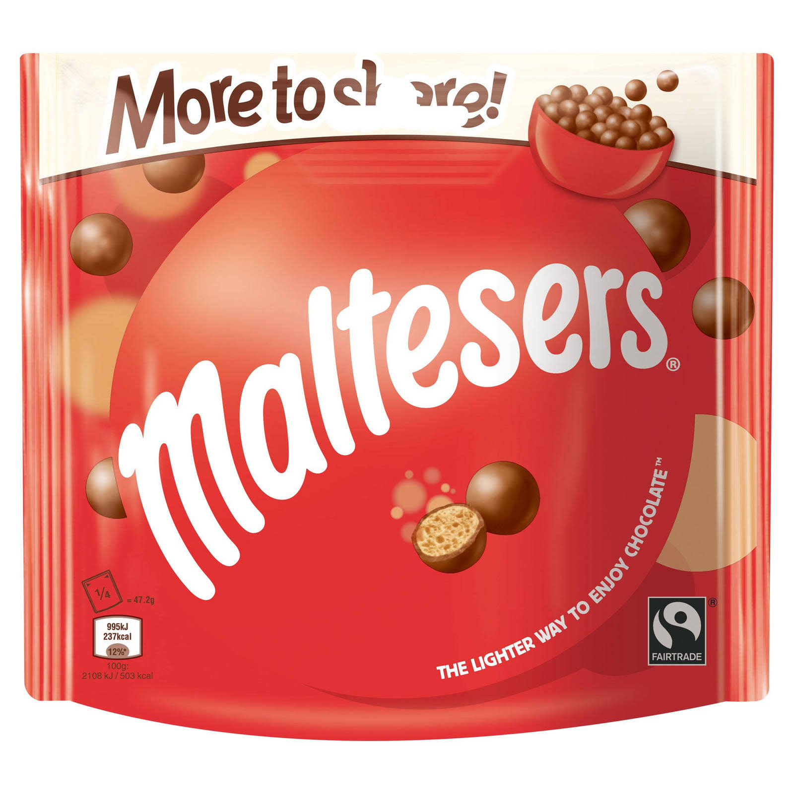 Maltesers Fairtrade Chocolate More to Share Pouch - 189g