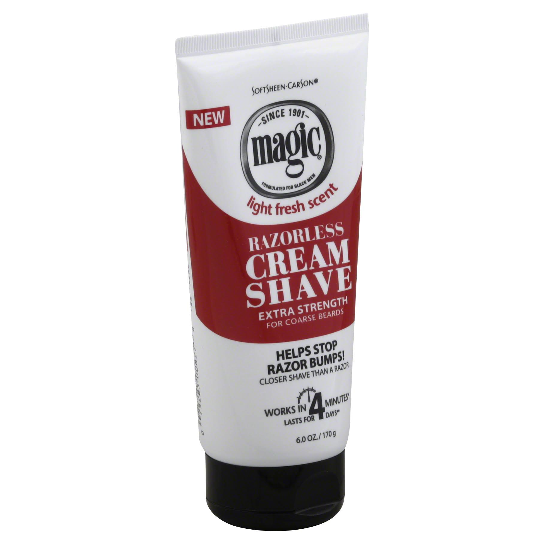 Magic Razorless Extra Strength Shaving Cream - 6oz