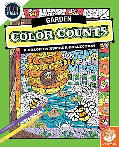 MindWare Color Counts: Garden Color by Number