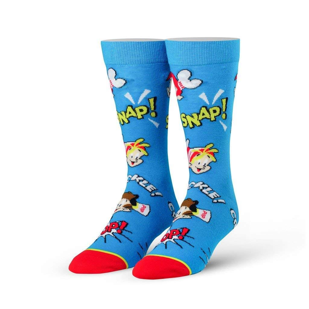 Cool Socks Men's Snap Crackle Pop Cereal Socks Size 6-13