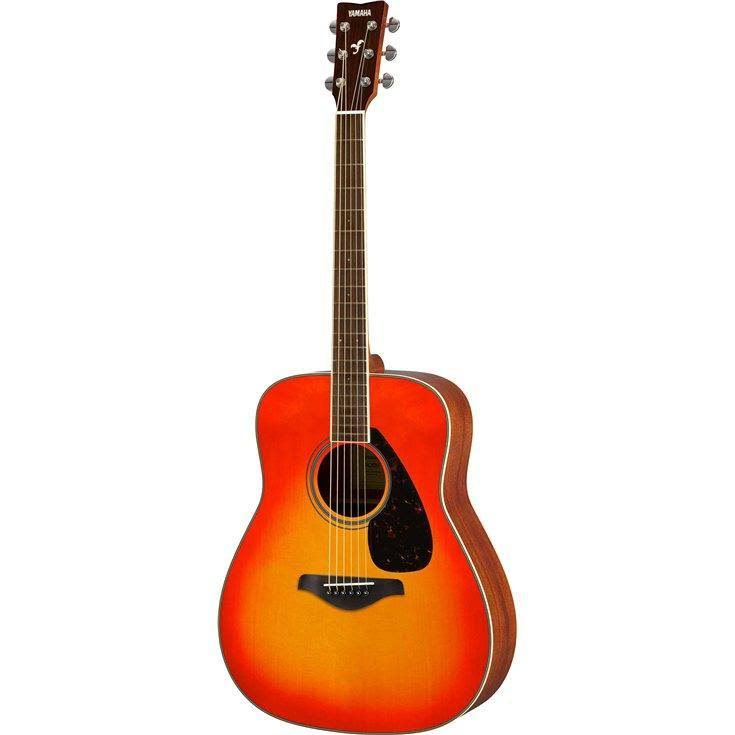 Yamaha FG820 Solid Top Acoustic Guitar - Autumn Burst, 40 7/8""