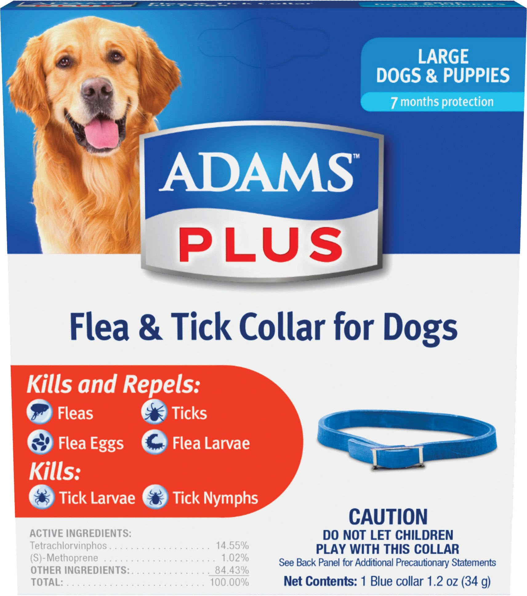 Adams Plus Flea & Tick Collar For Dogs - Large