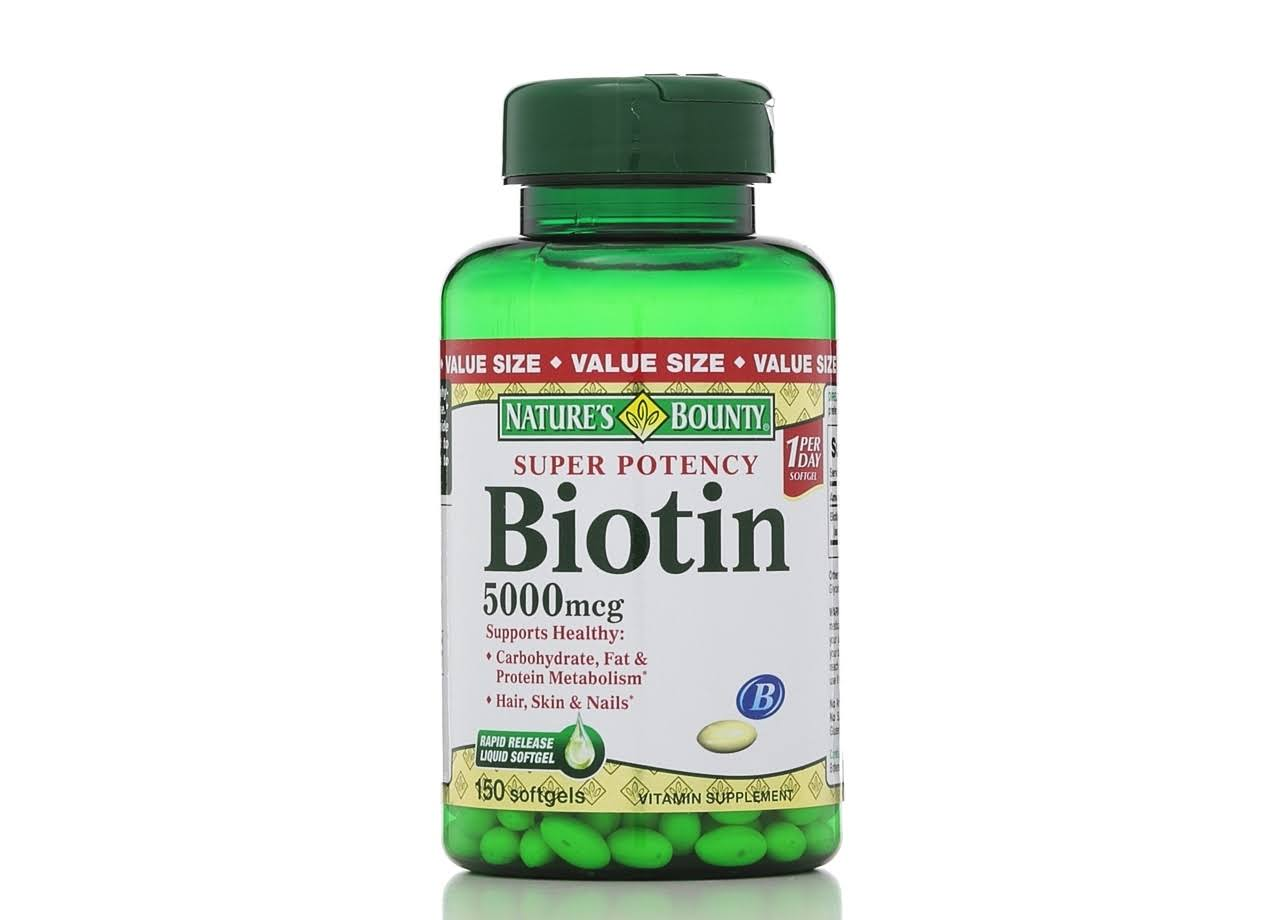 Nature's Bounty Biotin Supplement - 150 Softgels, 5000mcg