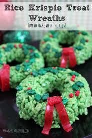 Rice Krispie Christmas Tree Cake by Rice Krispie Treats Idea Christmas Wreaths