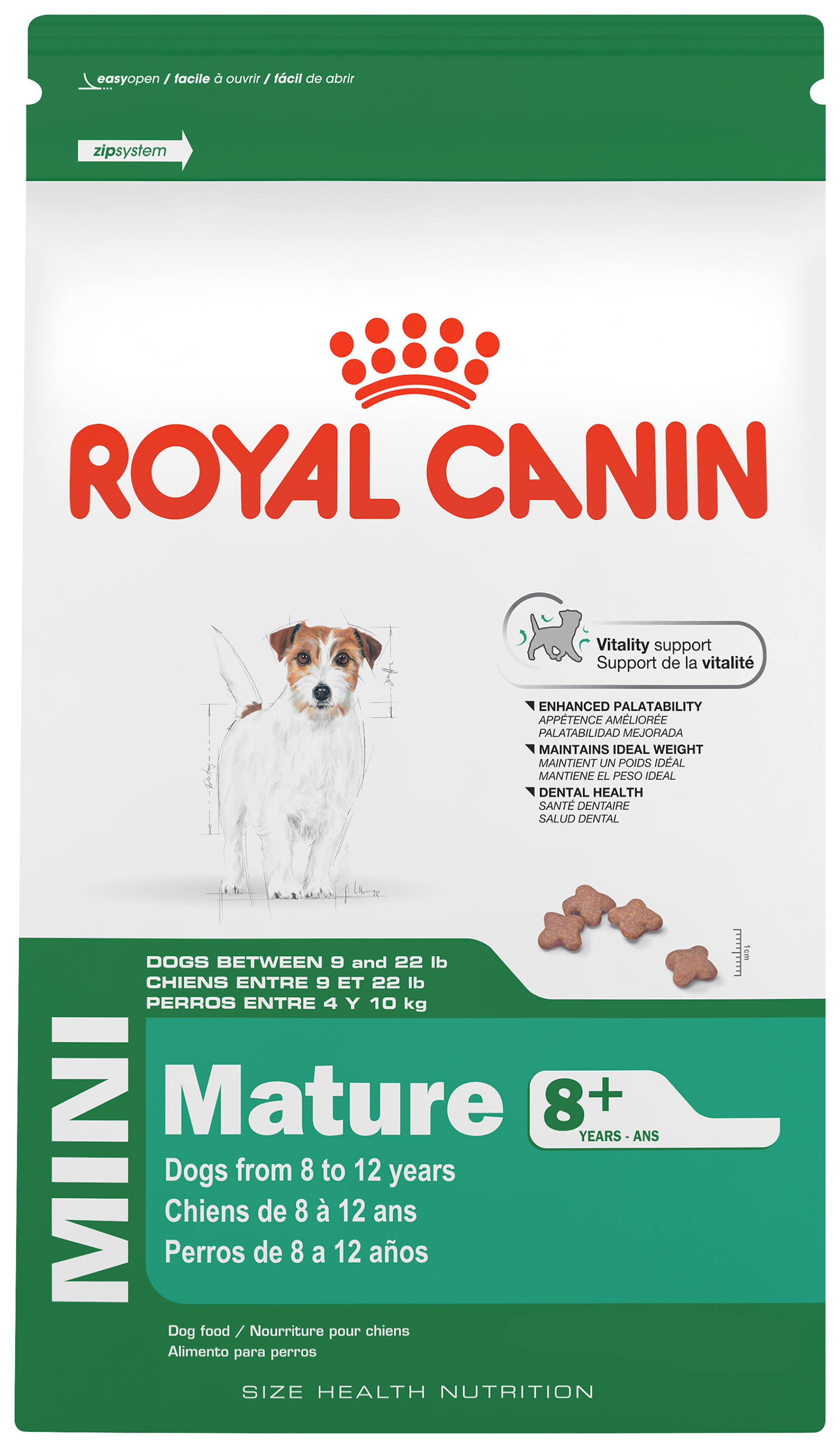 Royal Canin Size Health Nutrition Mini Mature 8 Plus Dry Dog Food - 13 lbs