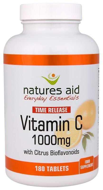 Natures Aid Time Release Vitamin C - 180 Tablets