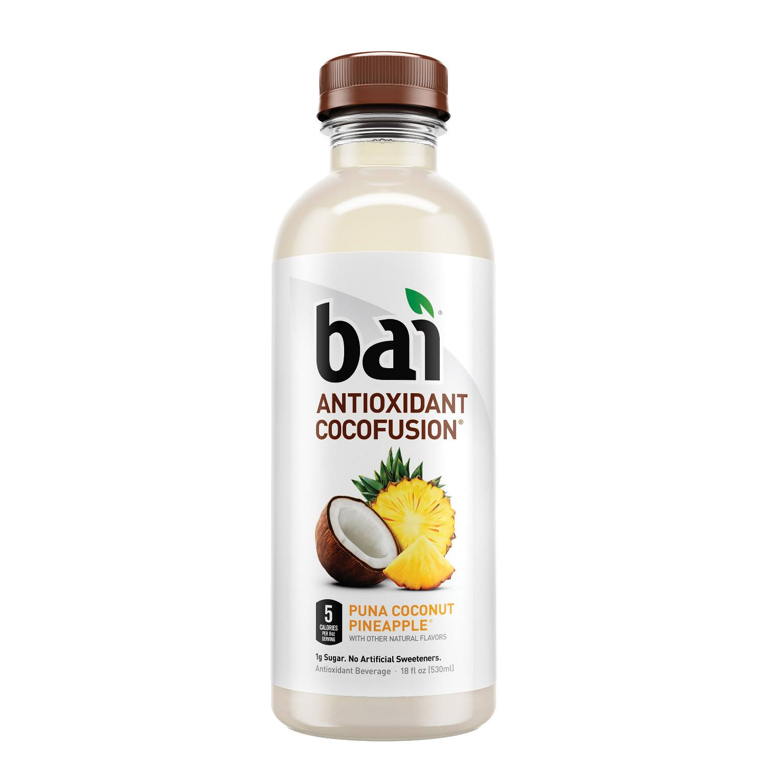 Bai Cocofusions Puna Coconut Pineapple, Antioxidant Infused Beverage, 18 fl oz bottle