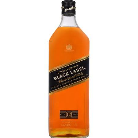 Johnnie Walker Black Label Whisky, Blended Scotch - 1.75 lt