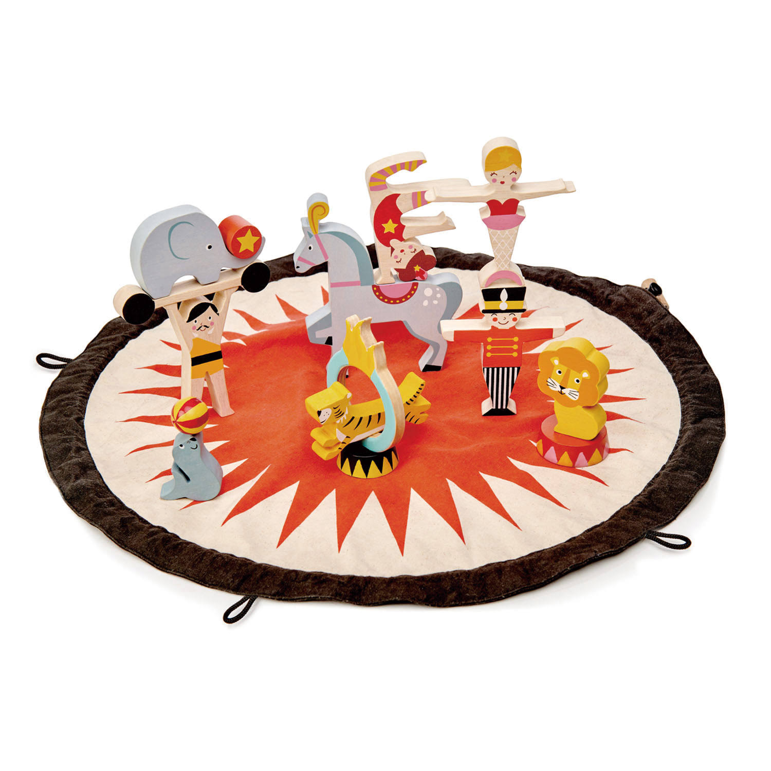 Tender Leaf Toys Circus Story Bag Playset