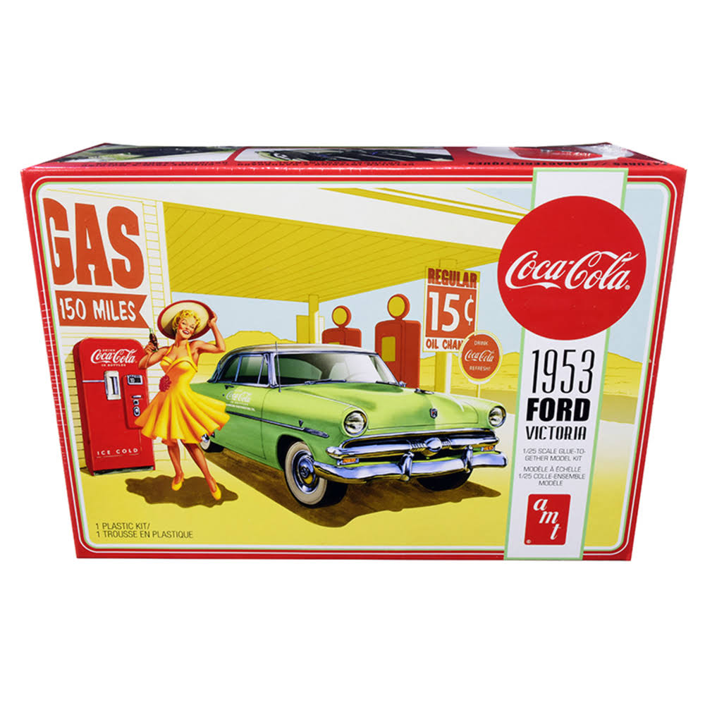 Amt 1953 Ford Victoria Hardtop with Coca Cola Machine Model Car - 1/25 Scale