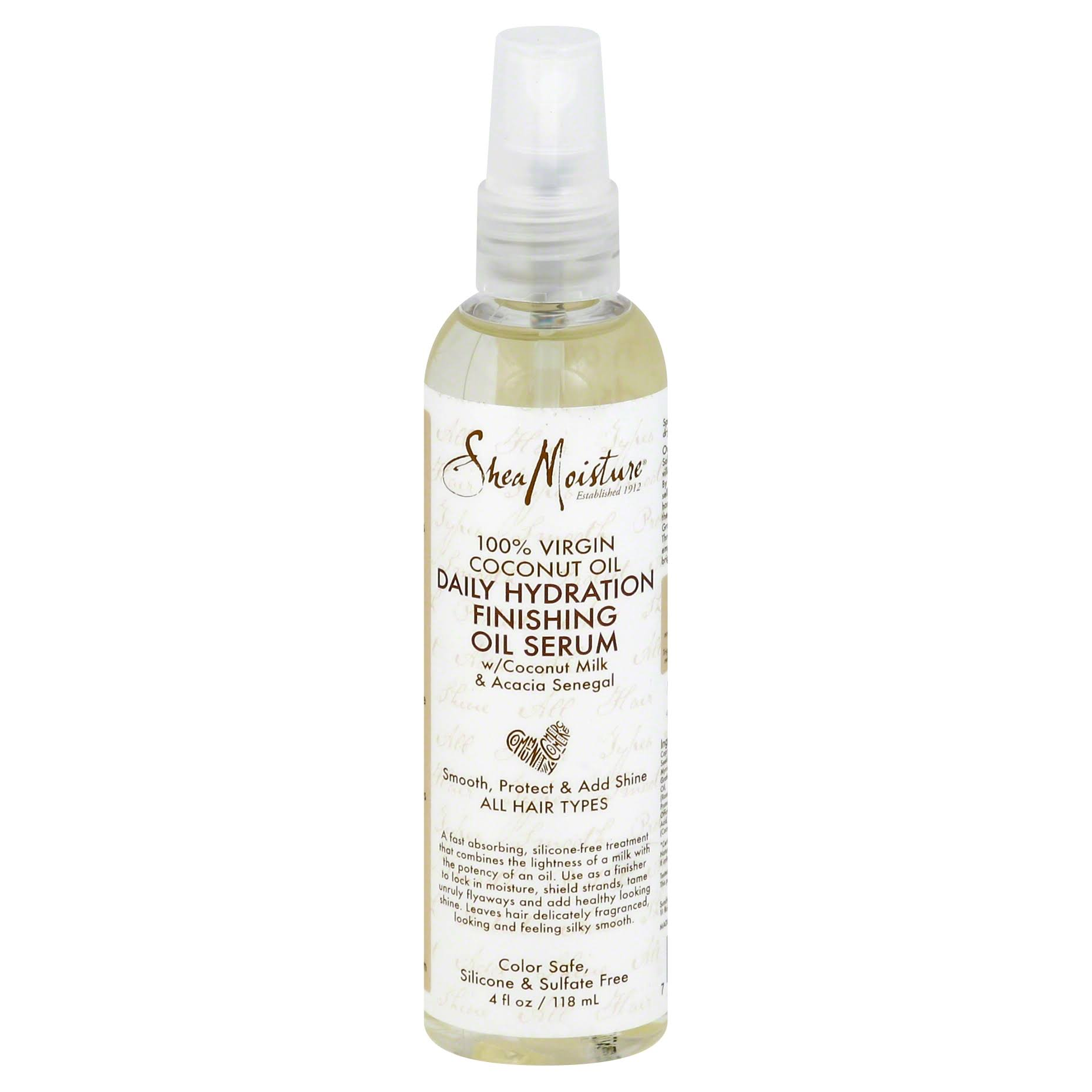 Shea Moisture Coconut Oil Daily Hydration Finishing Oil Serum - 4oz