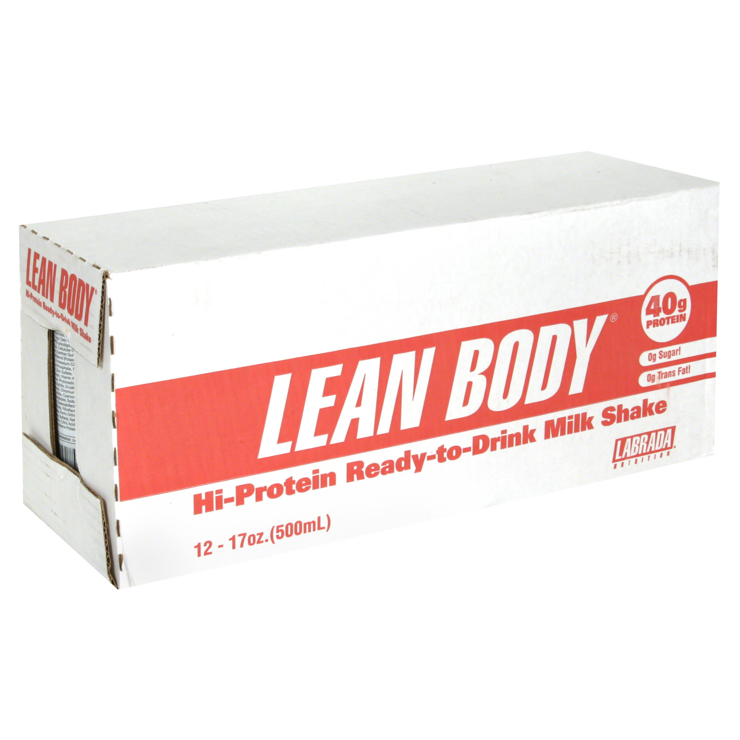 Labrada Nutrition Lean Body Ready-To-Drink Protein Shake - Chocolate, 500ml