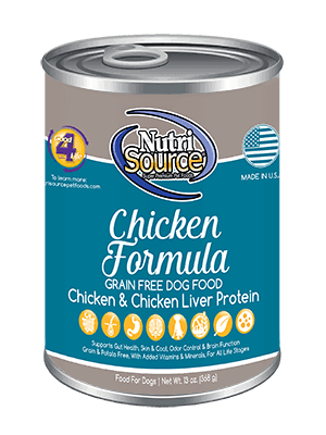 Nutri Source Grain Free Canned Dog Food - Chicken