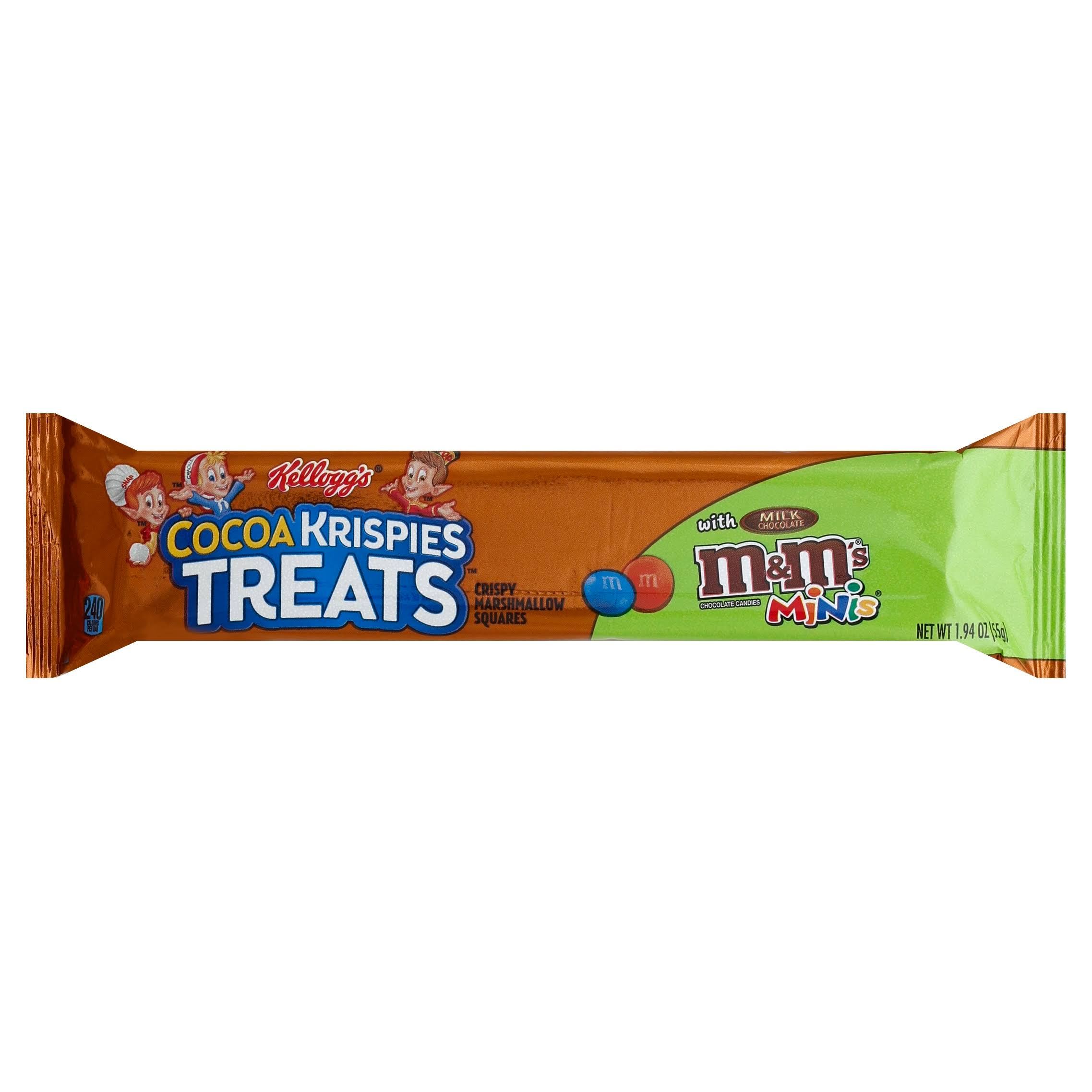 Cocoa Krispies Treats Crispy Marshmallow Squares, with Milk Chocolate M&M's Minis - 1.94 oz
