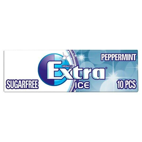 Wrigley's Extra Ice Peppermint Sugar Free Chewing Gum - 10pcs