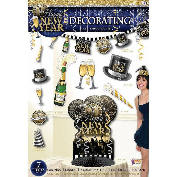 New Year's 7pc Decor Kit