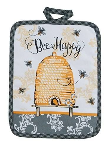 "Kay Dee Designs Cotton Potholder - 7""x9"", Queen Bee"