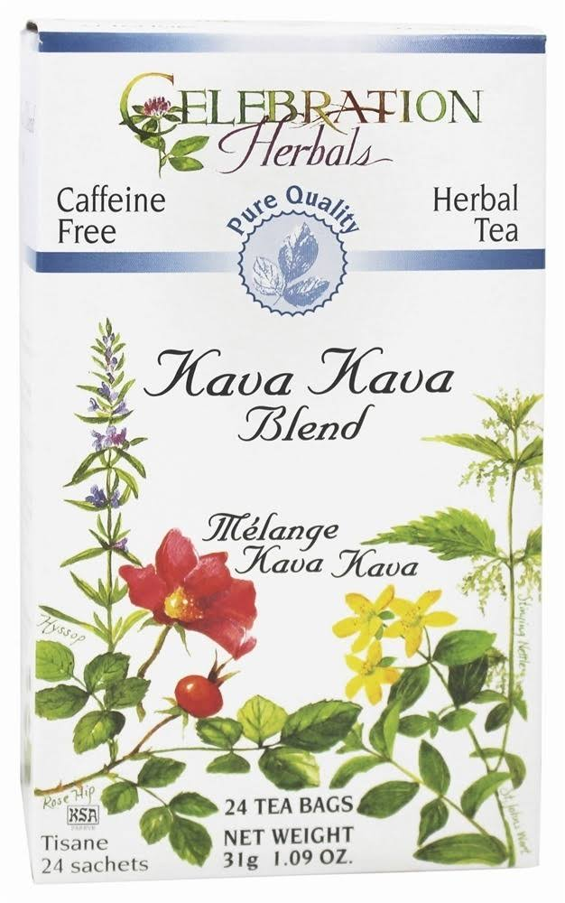 Celebration Herbals Herbal Tea Caffeine Free Kava Kava Blend - 24 Herbal Tea Bags