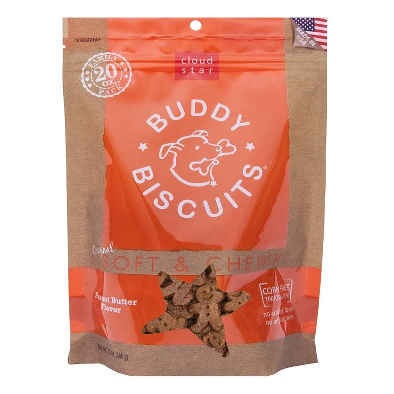Cloud Star Original Soft and Chewy Buddy Biscuit - Peanut Butter