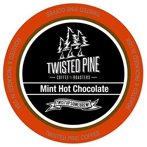 Twisted Pine Mint Hot Chocolate, Hot Cocoa, Single-Serve Cups for Keurig K-Cup B