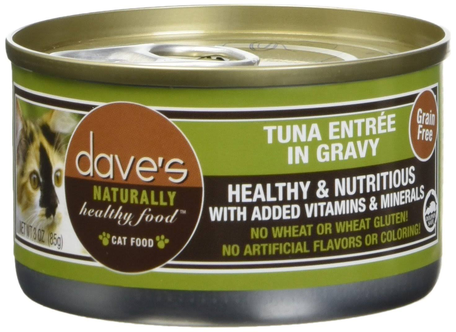 Dave's Naturally Healthy Canned Cat Food - Tuna Entrée In Gravy, 3oz