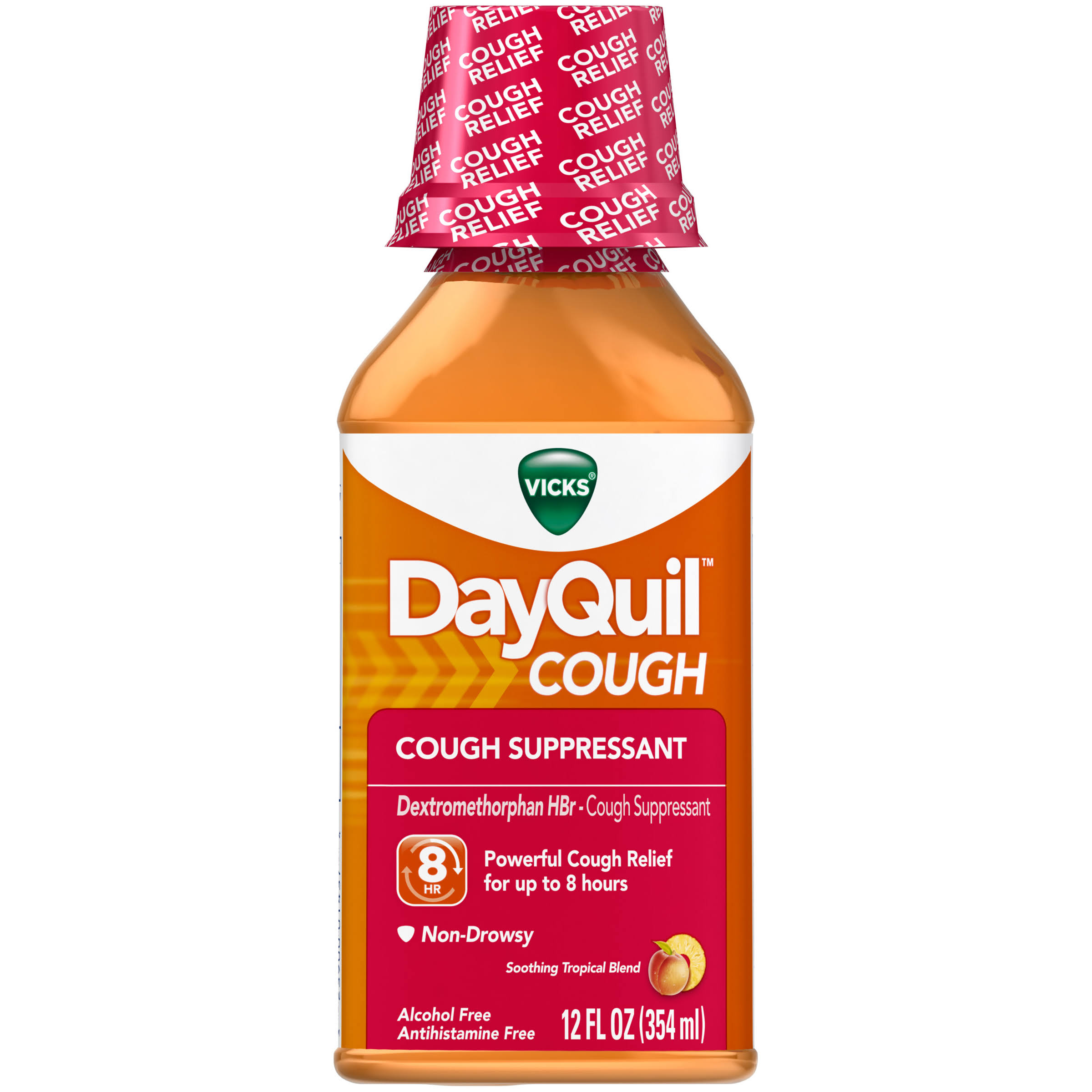 Vicks DayQuil Cough Soothing Tropical Blend Liquid - 12 fl oz bottle