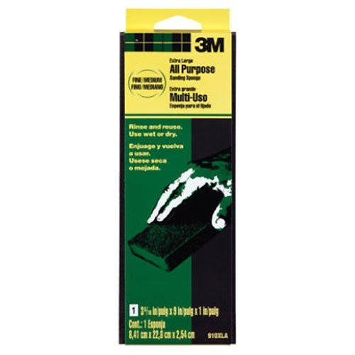"3M Extra Large Area Sanding Sponge - Medium, 3.3"" x 9"" x 1"""