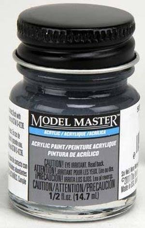 Testors Model Master Acrylic Paint - A Dark Gray, 1/2oz