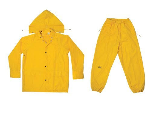 Custom Leathercraft R102X Rain Suit - 3pcs, X-Large, Yellow