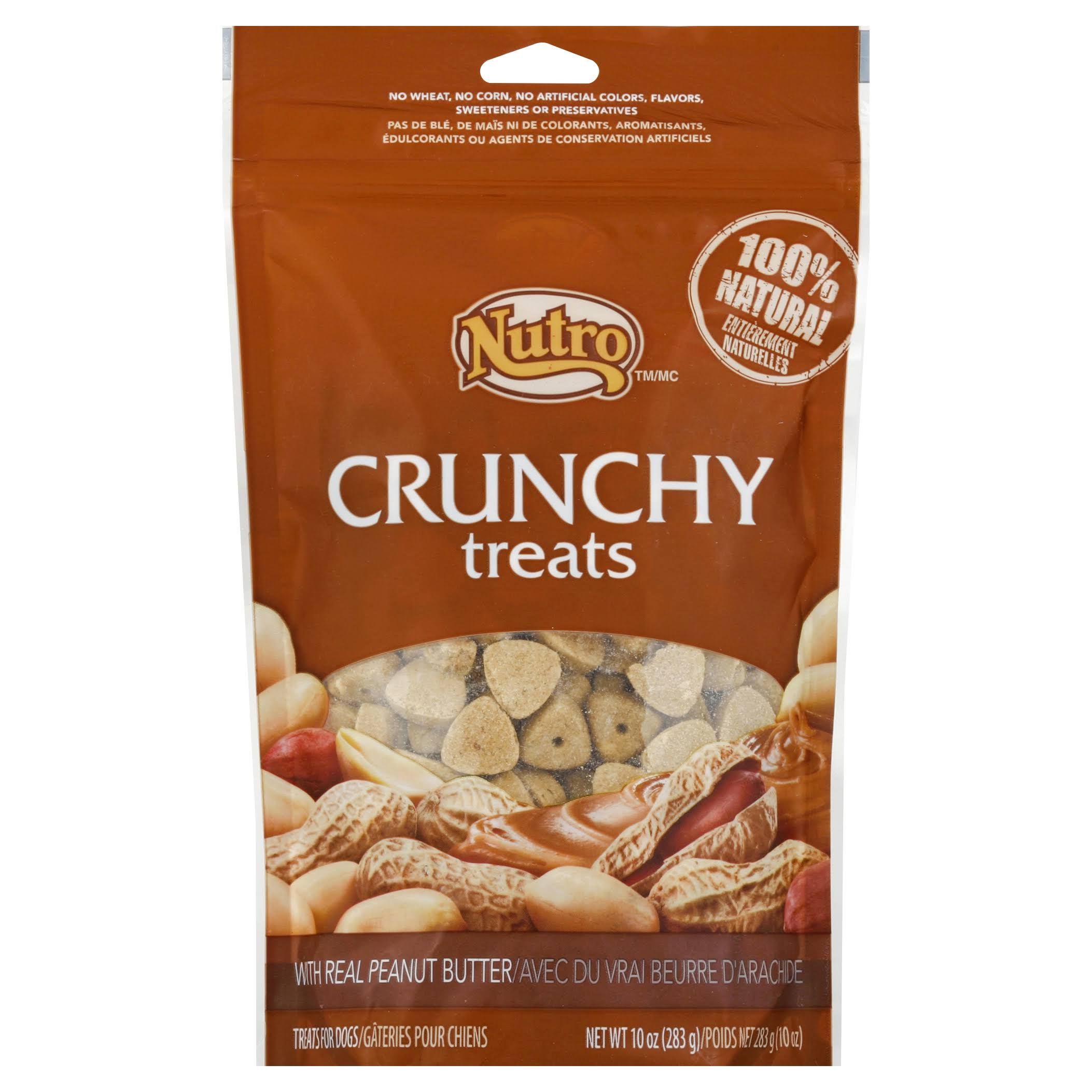 Nutro Crunchy Dog Treats - 10oz, Peanut Butter