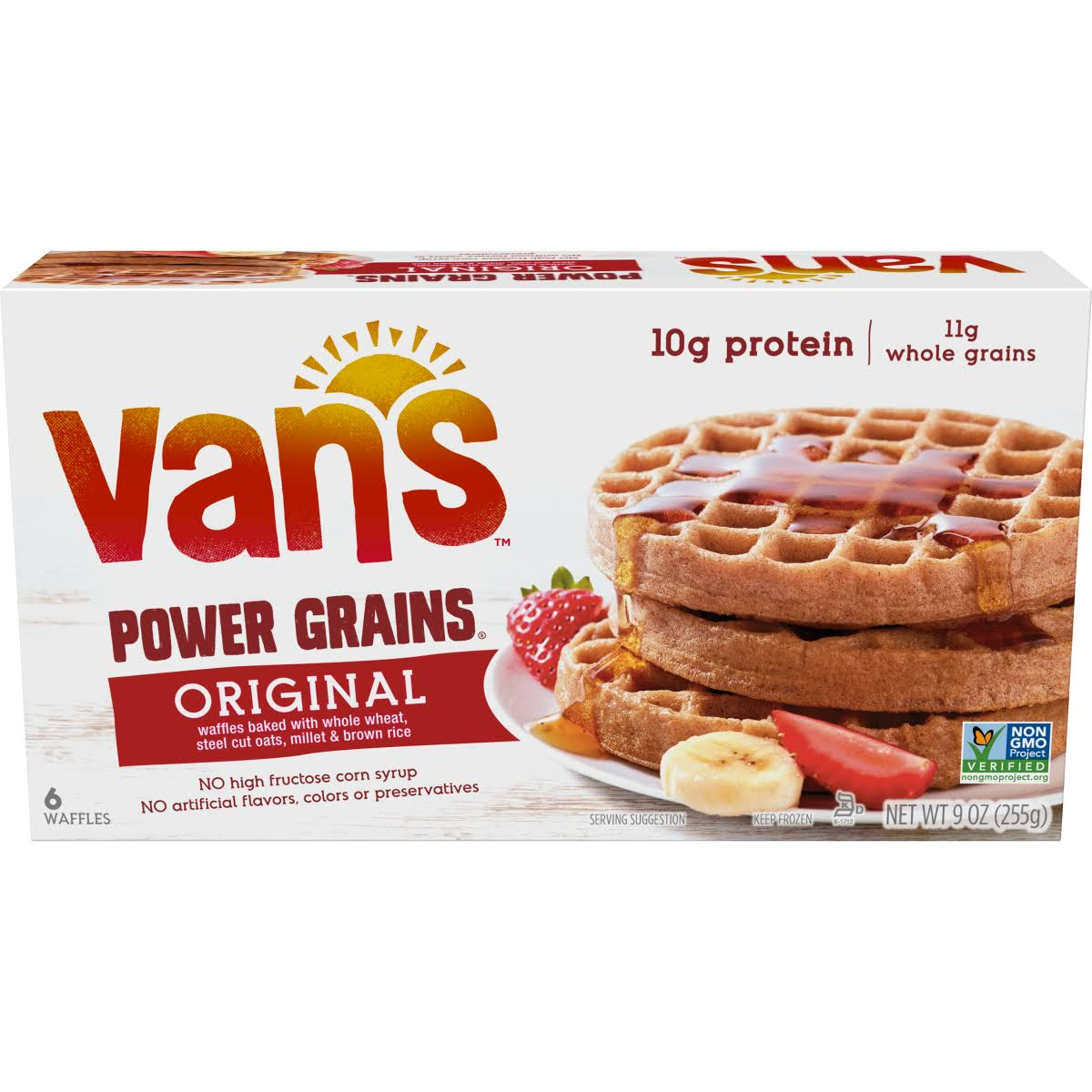 Vans Waffles, Power Grains, Original - 6 waffles, 9 oz