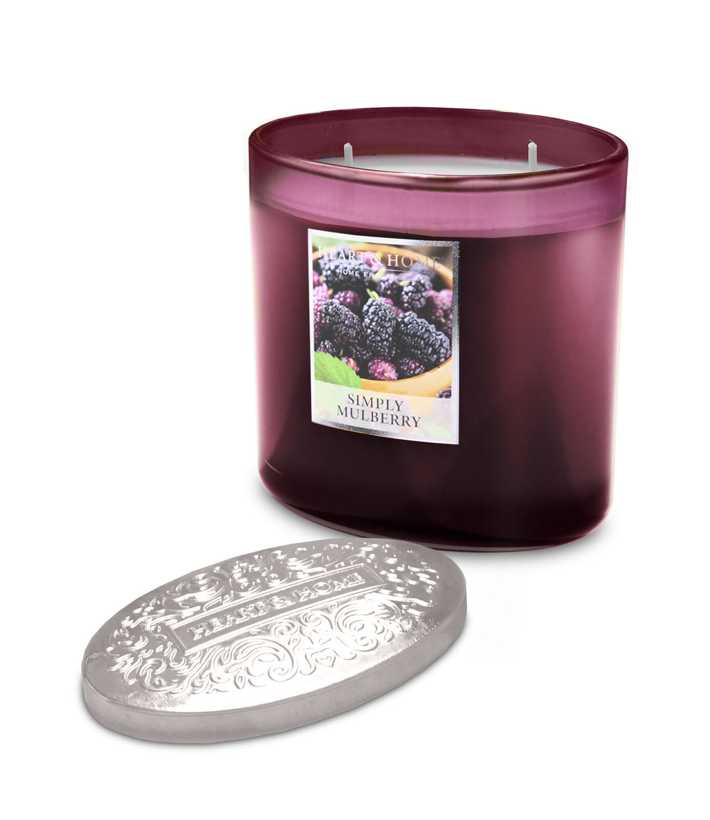 Heart & Home 2 Wick Ellipse Candle - Simply Mulberry