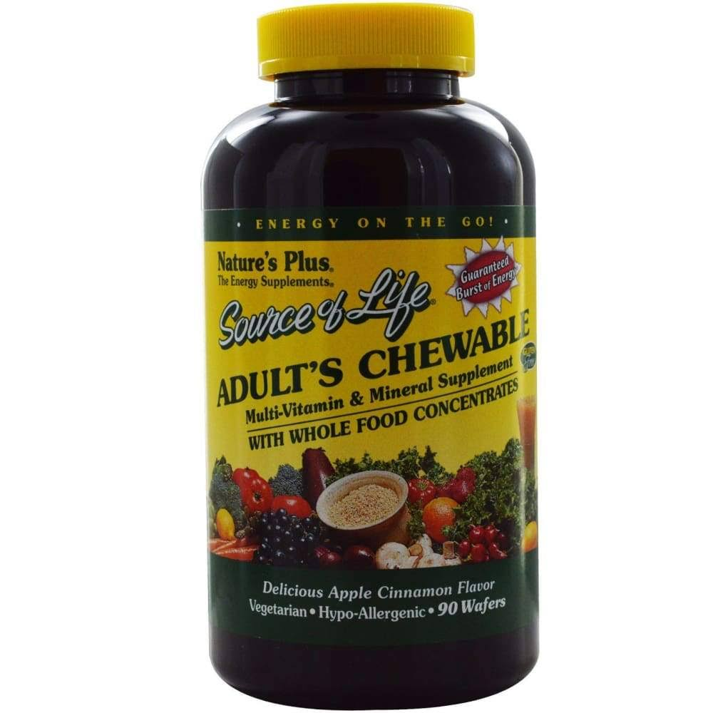 Nature's Plus Source Of Life Adult's Chewable - 90 Wafers, Apple Cinnamon