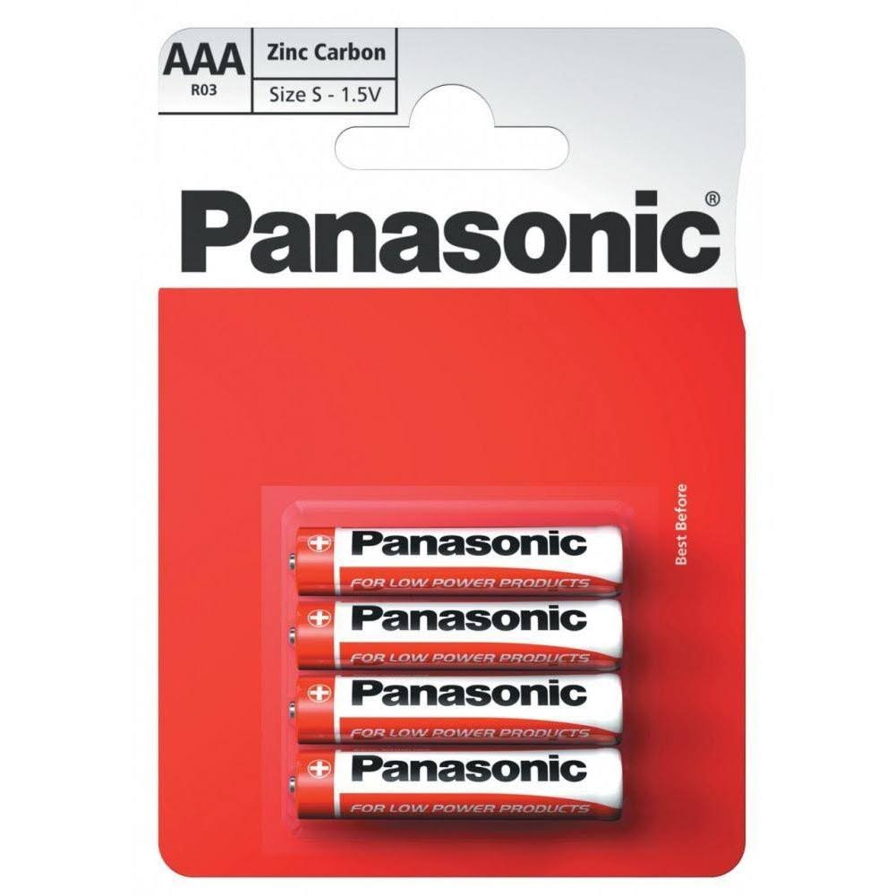 Panasonic AAA Zinc Carbon Batteries - 1.5V, 4pk