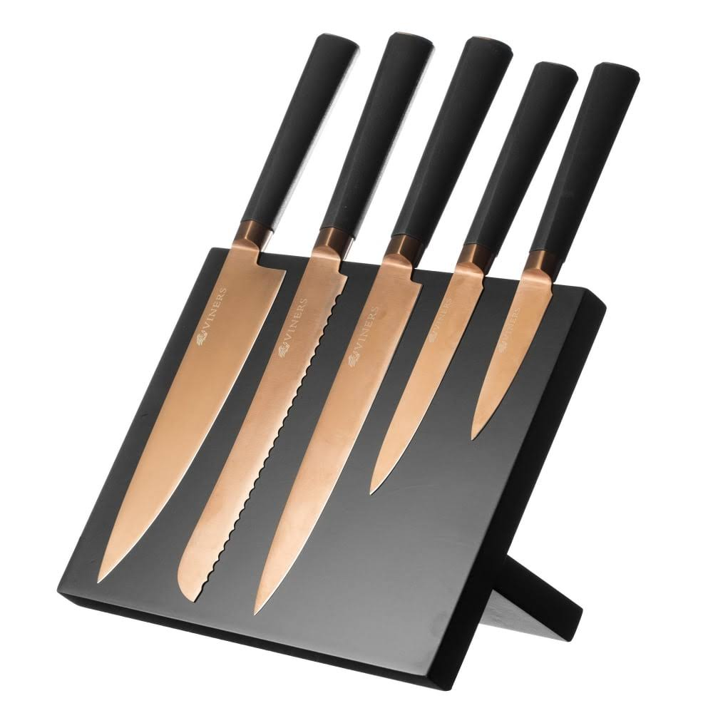 Viners Titan Copper Knife Block Set - 6pcs