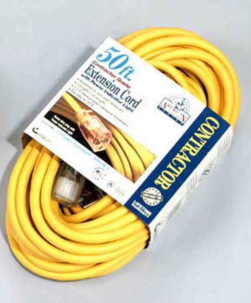 Coleman Cable Contractor Extension Cord