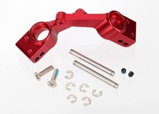 Traxxas 1952a Hub Stub Axle Carriers - 1/10 Slash 4x4 Rear Red Aluminum, 1 Pair