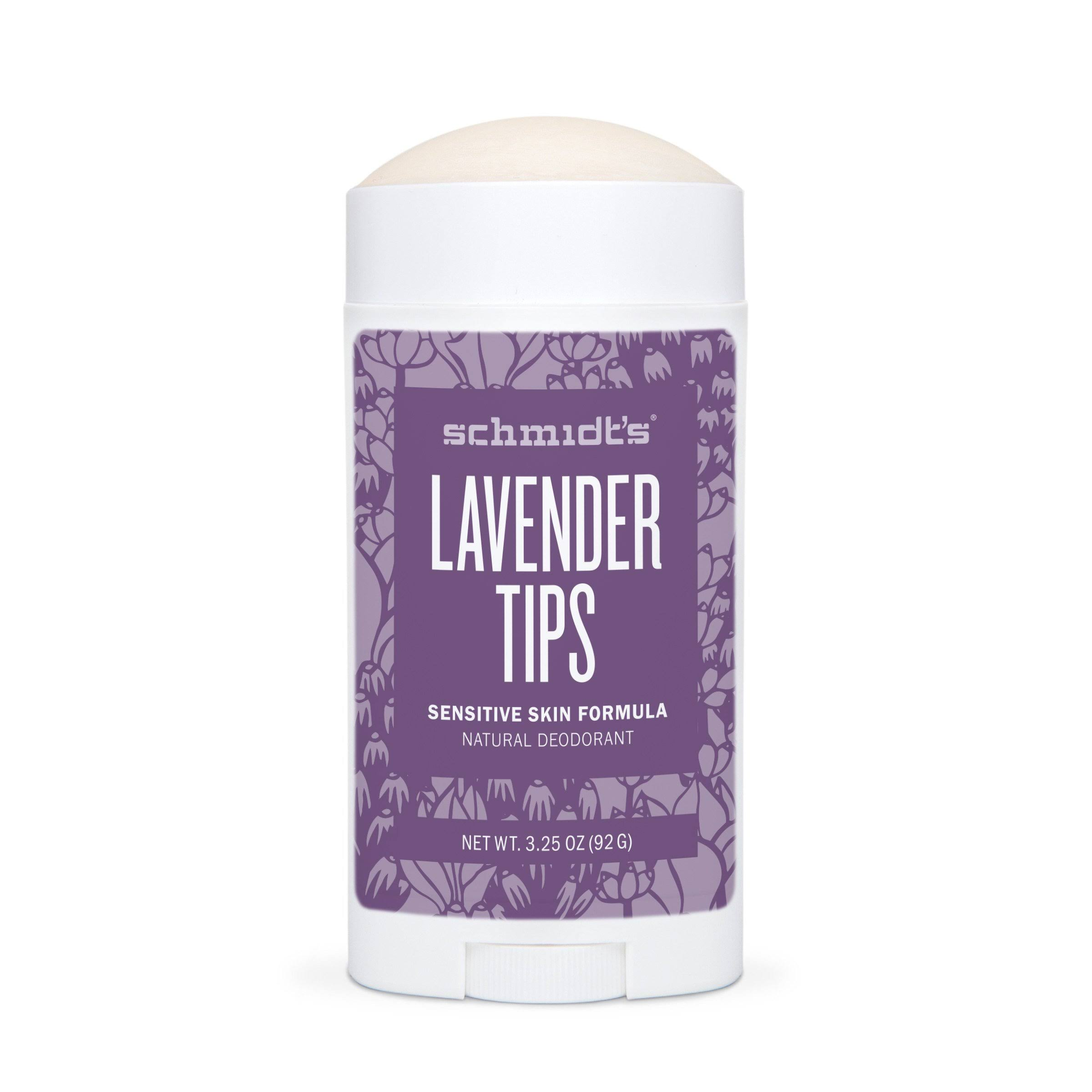 Schmidt's Lavender Tips Sensitive Skin Deodarant - 3.25oz