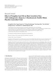 Pumpkin Seed Oil Capsules Hair by Effect Of Pumpkin Seed Oil On Hair Growth In Men With Androgenetic