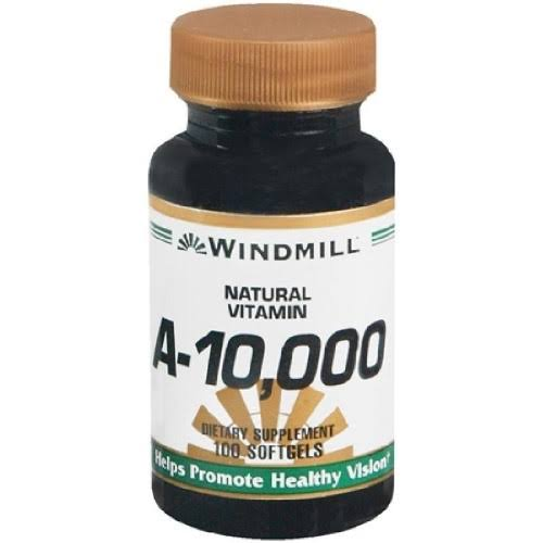 Windmill Natural Vitamins A-10,000 Dietary Supplement - 100 Softgels