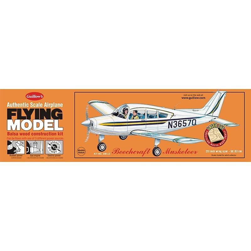 Guillows Beechcraft Musketeer Laser Cut Model Kit