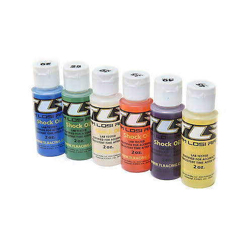 Team Losi Racing TLR74020 Shock Oil 6pk, 20,25,30,35,40,45, 2oz
