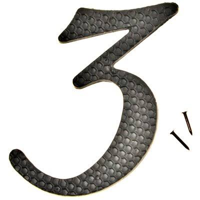 Hyko Nail On Aluminum Number - Black, Number 3, 4 1/2""